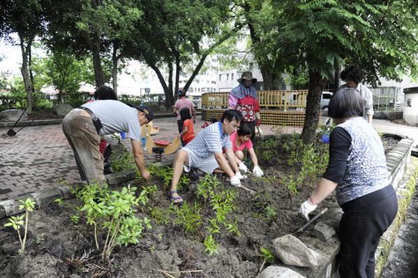 埔里生活-北梅公園在志工的努力下變得煥然一新。(唐茹蘋攝)