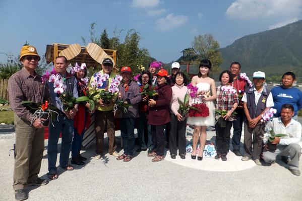埔里產業-牛尾社區花卉產業為區內第二大宗產業,質量俱佳。(唐茹蘋攝)