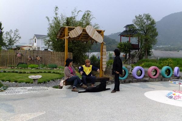 埔里生活-心田公園現成為社區居民聊天社交的場所。(唐茹蘋攝)